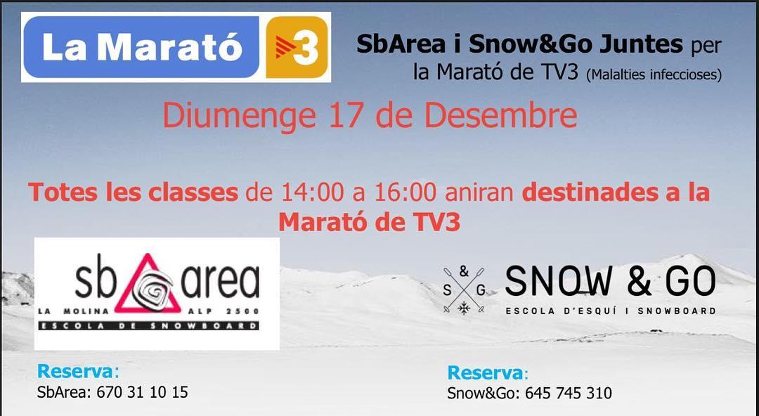 Snow&Go amb la Marató de TV3